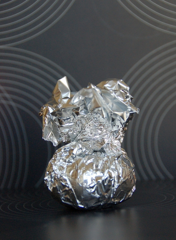 Into the foil you go little flavor bomb.