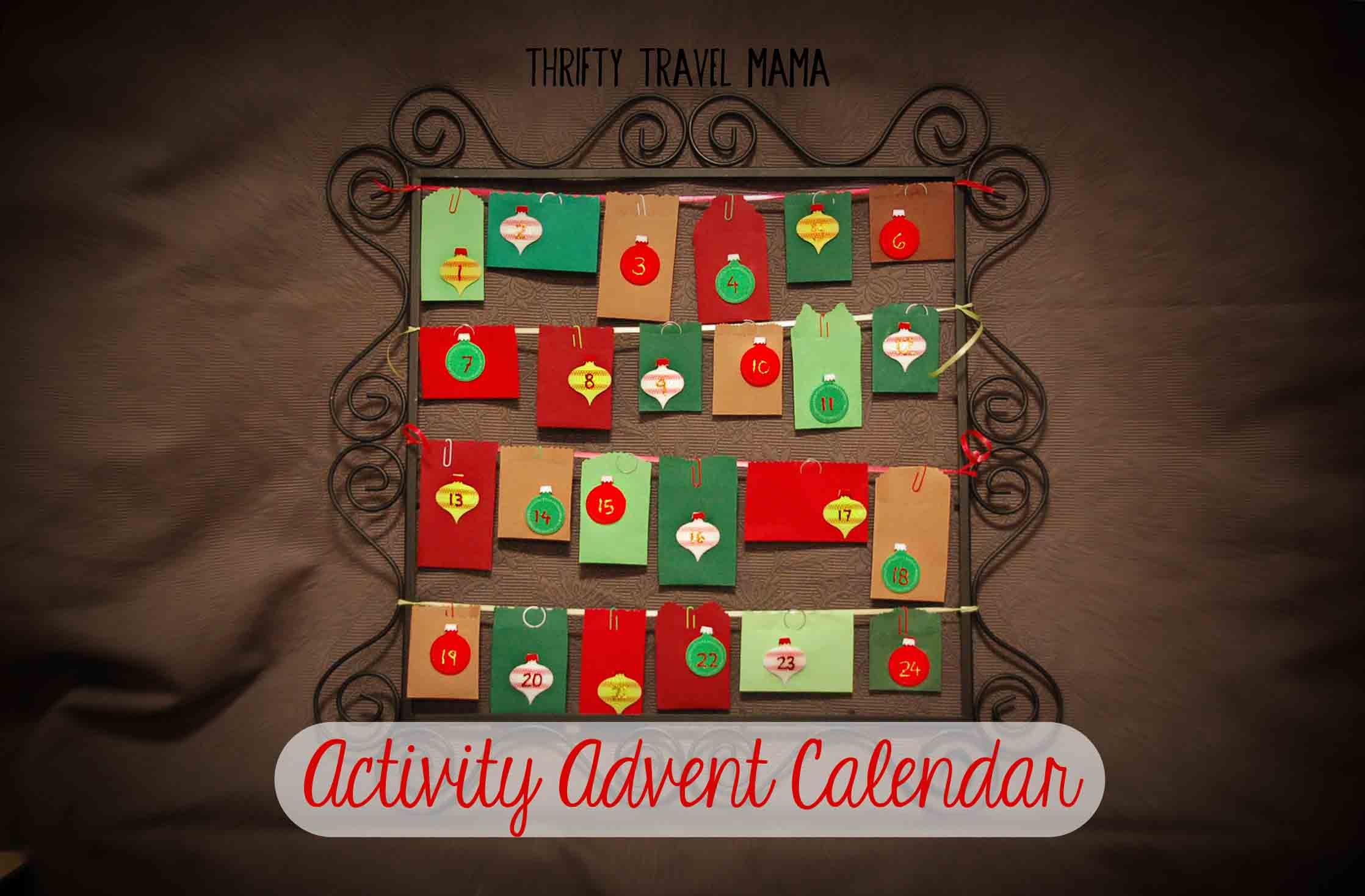 Make it yourself family activity advent calendar thrifty travel mama thrifty travel mama activity advent calendar ideas solutioingenieria Image collections